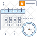 Time Table Todo List Target List Icon