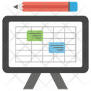 Schedule Planner Organizing Icon