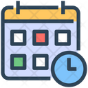 Seo Calendar Clock Icon