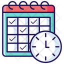 Deadline Timetable Schedule Icon