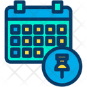 Pin Push Pin Schedule Icon