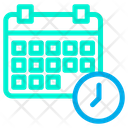 Clock Manage Schedule Icon