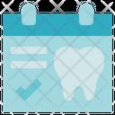 Dentist Schedule Calendar Icon