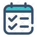 Schedule Task Education Icon