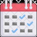 Schedule Calendar Checklist Icon