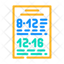 Schedule Canteen Work Icon