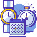Schedule Calender Clock Icon