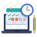 Schedule Class Online Class E Learning Icon