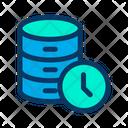 Database Clock Data Icon