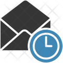 Schedule Clock Email Icon