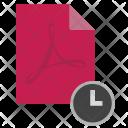 Acrobat Pdf Time Icon
