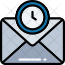 Timed Mail Logistics Shipping Icon