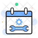 Business Calendar Support Maintenance Scheduled Maintenance Icon