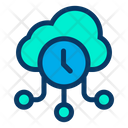 Cloud Clock Online Storage Icon