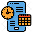 Smartphone Schedule Clock Icon