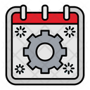 Gear Setting Calendar Icon