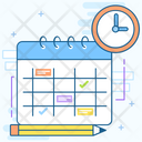 Schedule Planning Event Management Timetable Icon