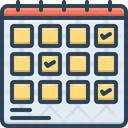 Schedule Planning Planification Project Icon