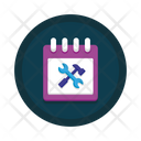 Schedule Service Maintenance Service Planning Icon