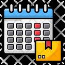 Scheduled Delivery Scheduled Shipment Cargo Schedule Icon