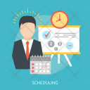 Scheduling Creative Process Icon