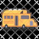 School School Bus Public Transport Icon