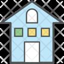 School Building House Icon