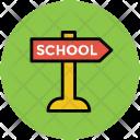 School Direction Board Icon
