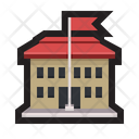 School Structure Flag Icon