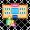 Preschool Building Educational Icon