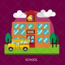 School Building Construction Icon