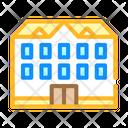School Building Color Icon