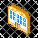 School Building Isometric Icon