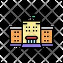 School Buillding Color Icon