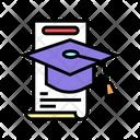 School Graduation Color Icon