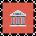 School Architecture Building Icon