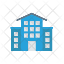 School Building Estate Icon