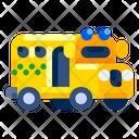 School Bus Education Icon