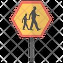 School Ahead Children Icon