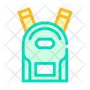 School Backpack Color Icon