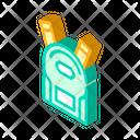 School Backpack Isometric Icon