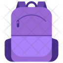 Bookbag Back Student Icon
