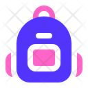 Education Backpack Bag Icon
