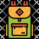 School Bag Backpack Luggage Baggage Icon