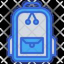 School Bag Backpack Bags Icon
