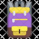 School Bag Backpack High School Icon