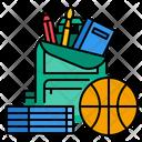 School Bag School Equipment Icon