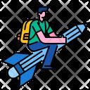 School Boy Student Education Icon