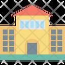 School Building Real Estate University Icon