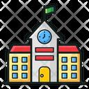 Educational School Building School Infrastructure Condominium Icon